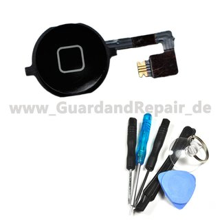 Homebutton Reparatur Set für iPhone 4S -schwarz-