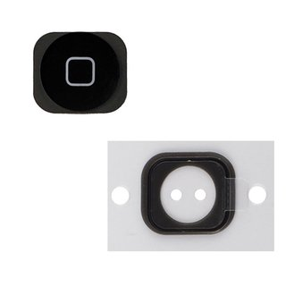 Homebutton Reparatur Set für Apple iPhone 5 -schwarz-