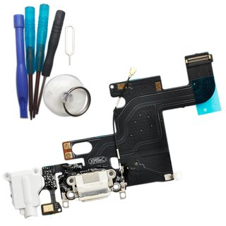 Dock Connector Reparatur Set für iPhone 6 -weiß-