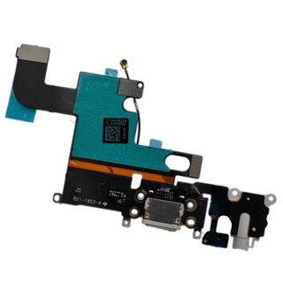 Dock Connector Ladebuchse Audio Jack für iPhone 6 -schwarz/grau-